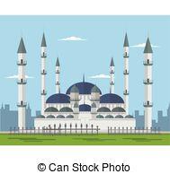 Mosque clipart blue mosque Clipart Blue mosque Clip 542