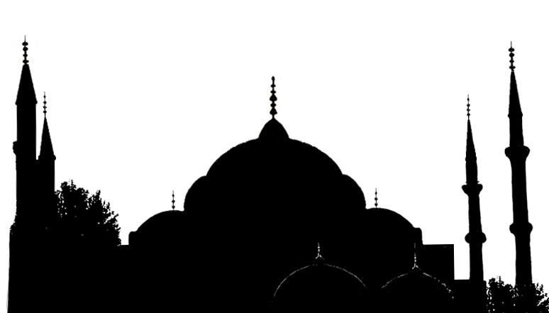 Mosque clipart blue mosque Silhouette mosque Silhouettes blue Stock