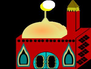 Mosque clipart church Clker com Clip Masjid Masjid