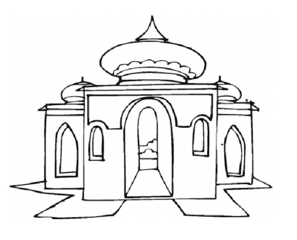 Temple clipart sikh Pages pictures Colouring masjid to