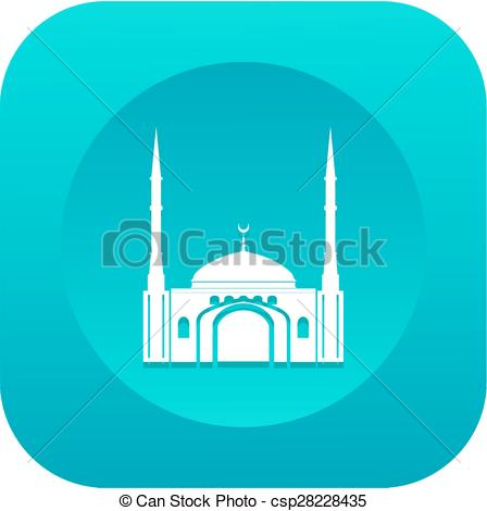 Mosque clipart frame Of Flat Mosque with Mosque
