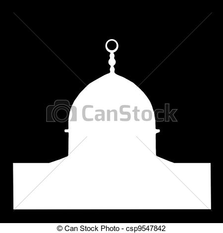 Mosque clipart frame Shape in csp9547842 in the