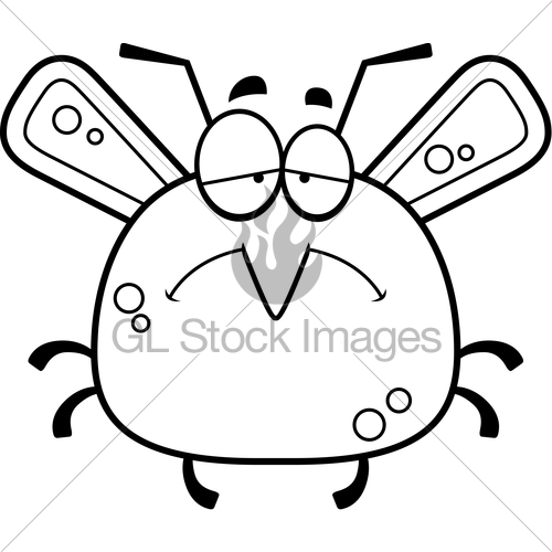 Mosquito clipart sad Stock Looking A Illustration Sad