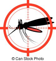 Mosquito clipart scared A on mosquito Vector Clip