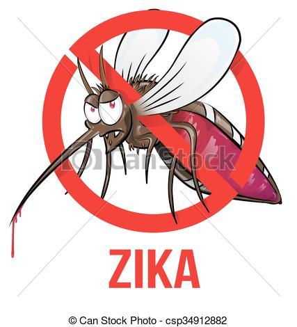 Mosquito clipart zika Of white zika isolated mosquito