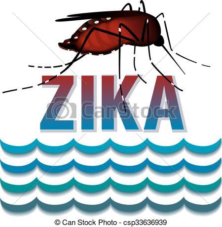 Mosquito clipart zika Standing Mosquito Virus Zika