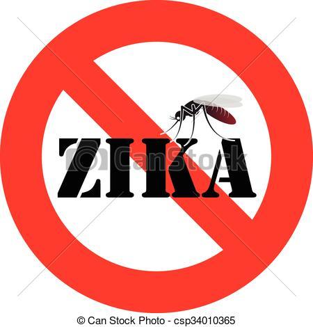 Mosquito clipart zika Warning mosquito zika Vector csp34010365