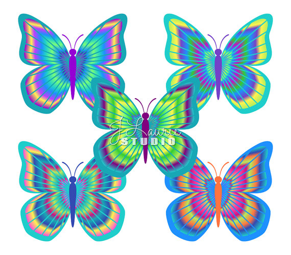 Moth clipart psychedelic #8