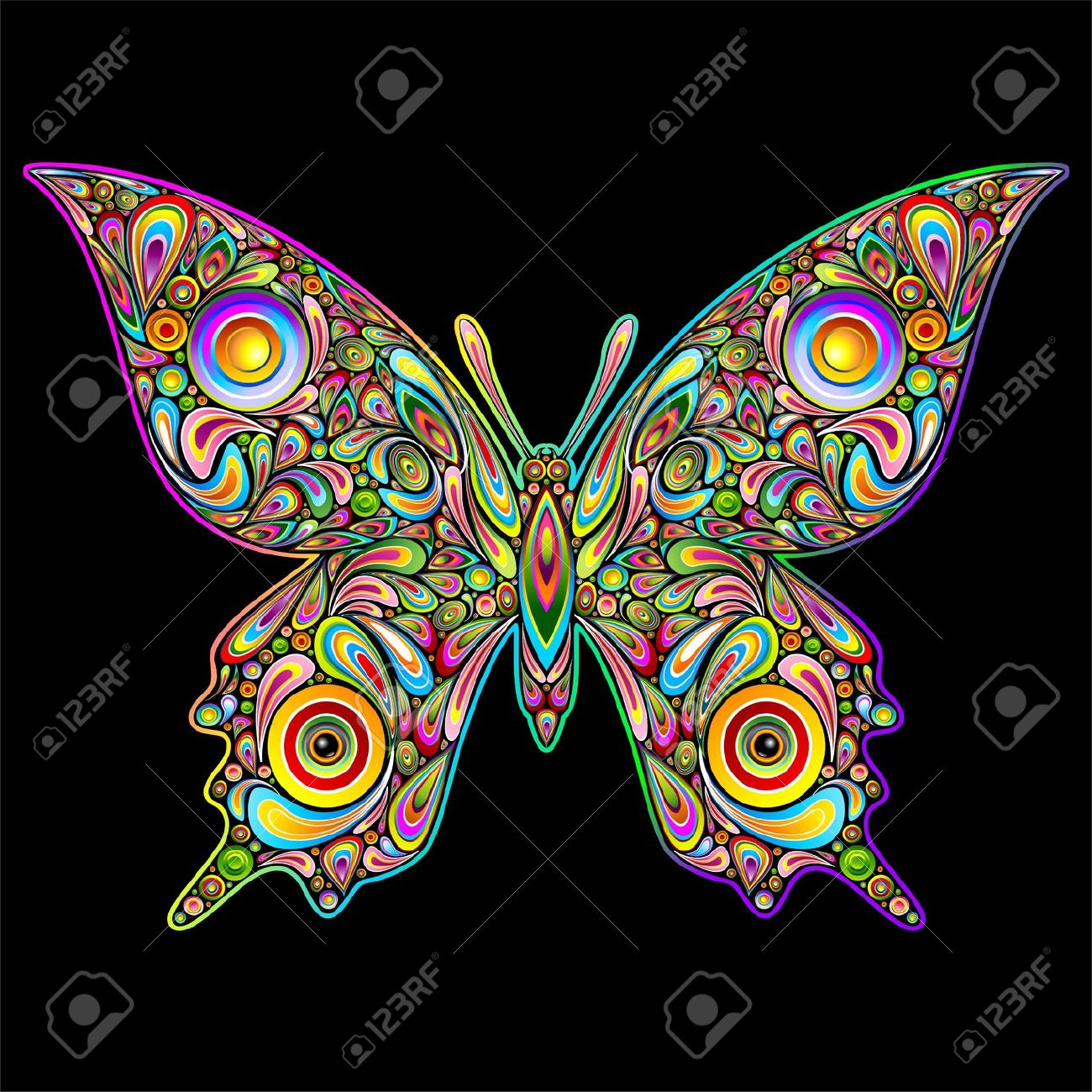 Moth clipart psychedelic #7