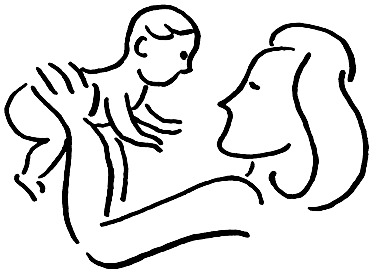 Mother And Baby clipart Free World Download Perfect Baby