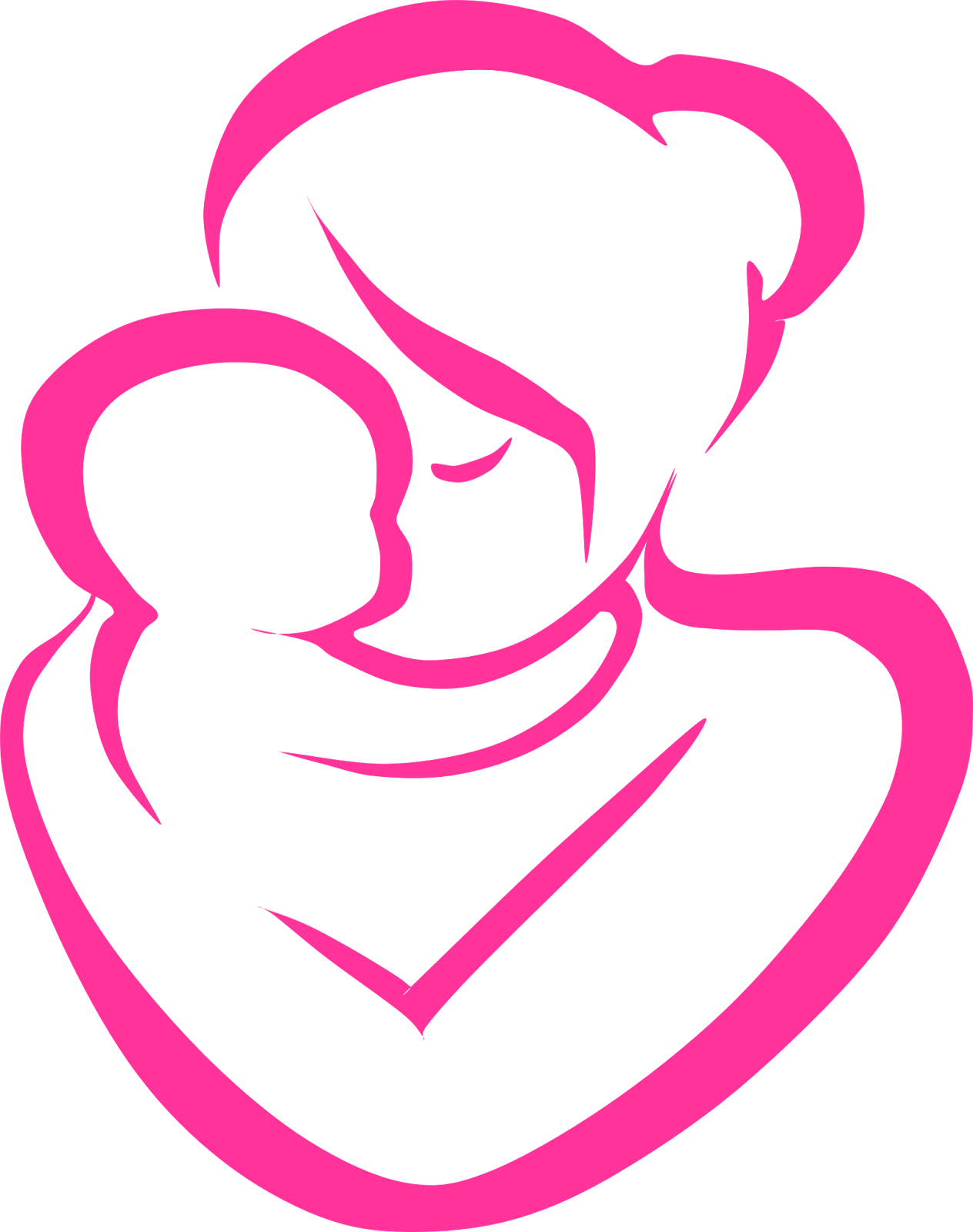 Mother And Baby clipart Mother Pin Cliparts dove this