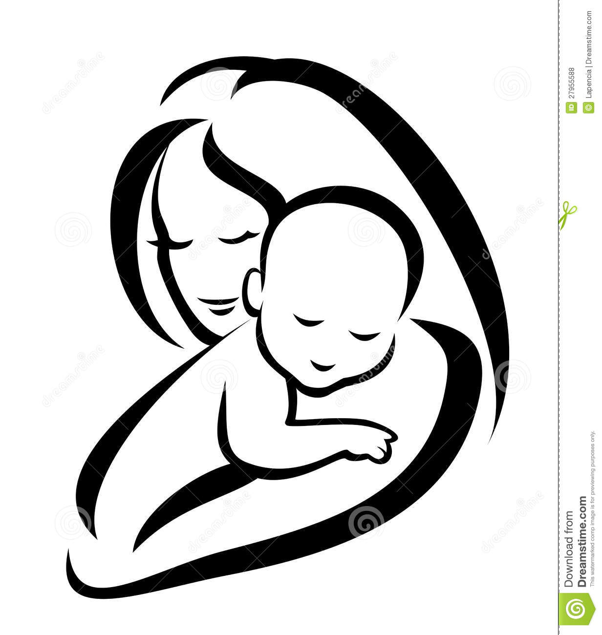 Mother And Baby clipart line art Savoronmorehead Baby Savoronmorehead Clipart Baby