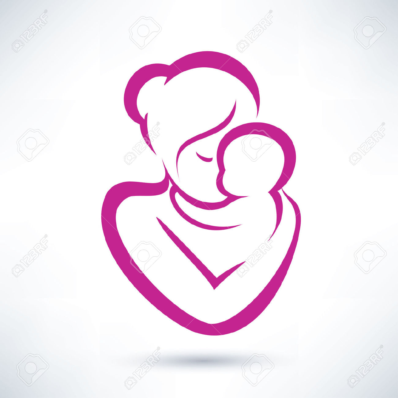 Mother And Baby clipart Google baby Search and baby