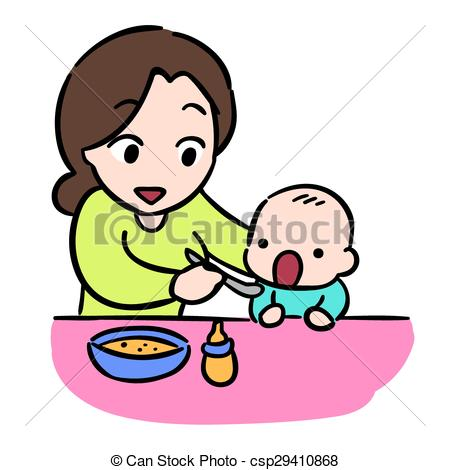 Mother And Baby clipart baby illustration Vector by  her mother