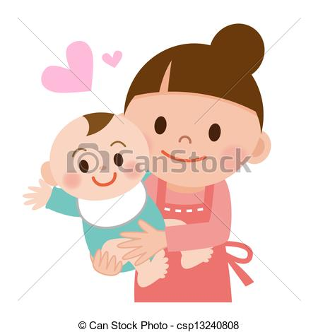 Mother And Baby clipart baby illustration Mom Illustration her and of