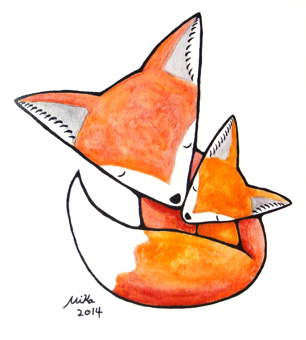 Mother And Baby clipart baby illustration Fox Baby Decor Nursery Fox