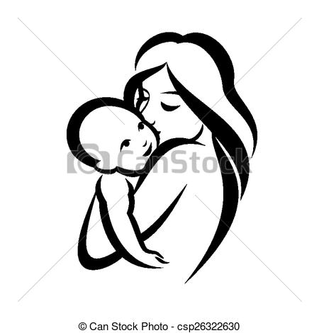 Mother And Baby clipart baby illustration Vector vector vector mother symbol