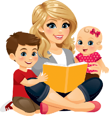 Mommy clipart babysitting Mom mom kids with collection