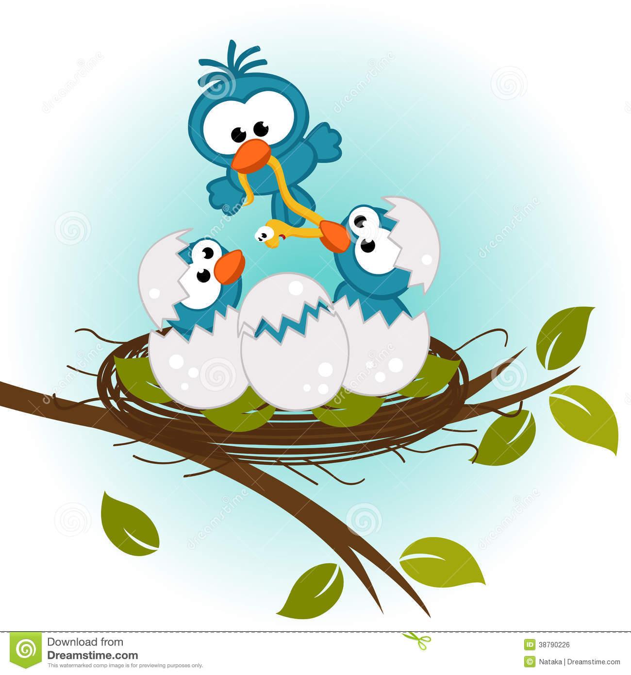 Nest clipart mother bird #3
