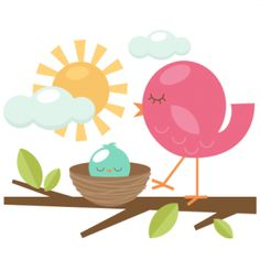 Bird clipart mother and baby Cute Bird Cliparts and Cliparts