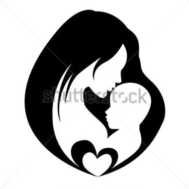 Womb clipart mother and baby Mother holding Developing for Nursery