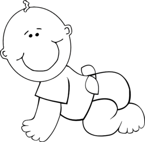 Monochrome clipart baby Com Baby at Baby Art