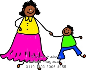 Mother And Baby clipart boy Of Hands Image His Mother