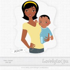 Mother And Baby clipart boy Mother art 00 418 by