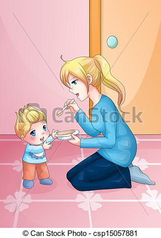 Mother And Baby clipart boy A of and Mother of