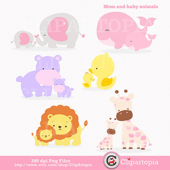 Mommy clipart baby animal Clipart Kid Clipart And Baby
