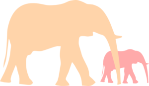 Mommy clipart baby elephant Baby  com Clker Mother