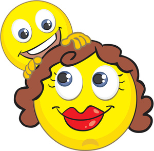 Smile clipart mother face Image Illustration of Emoticons Baby