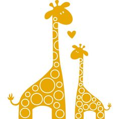 Mother And Baby clipart giraffe Silhouette Canvas Giraffe x baby