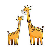Mother And Baby clipart giraffe Clip giraffes Collection Clipart clipart