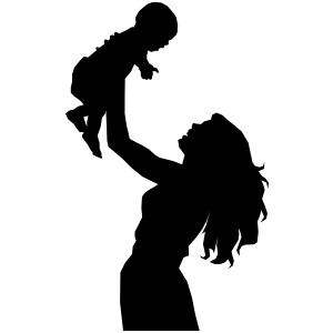 Mother And Baby clipart line art Clip  clip Silhouette female