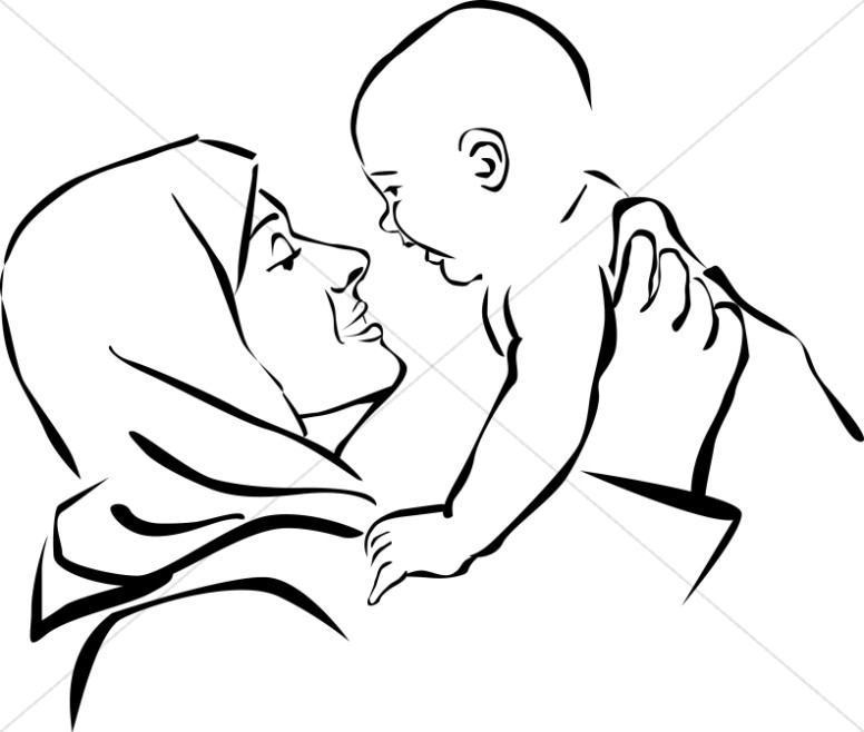 Mother And Baby clipart mary jesus Jesus Mary and and Mary