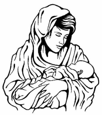 Mother And Baby clipart mary jesus Free Panda Baby Loved The