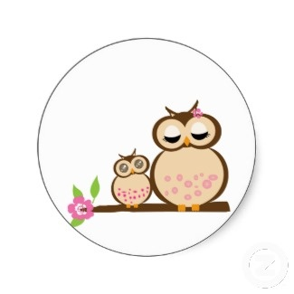 Owl clipart round And clipart image mama baby