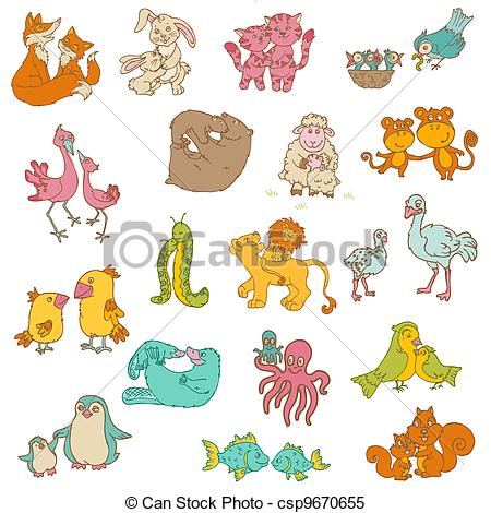 Mother And Baby clipart mommy and me Mama animal Mother baby animal