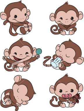 Mother And Baby clipart monkey Art best Monkey I 117
