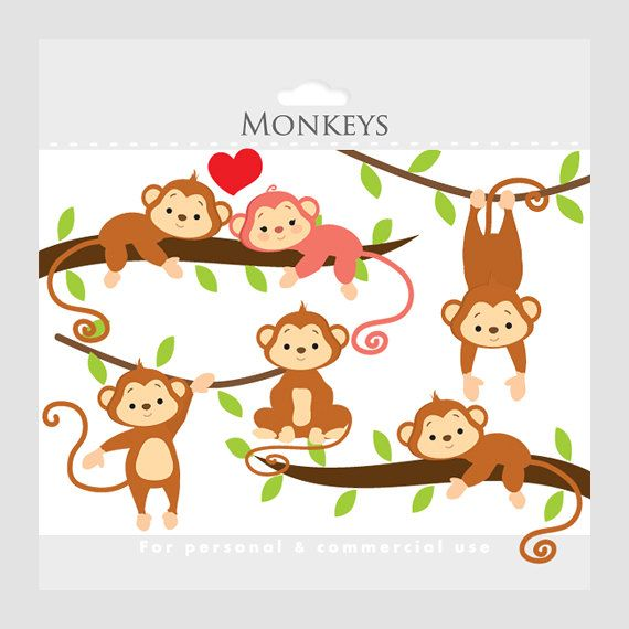Mother And Baby clipart monkey Monkeys by clipart WinchesterLambourne art