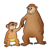 Mother And Baby clipart monkey Clipart young funny one with
