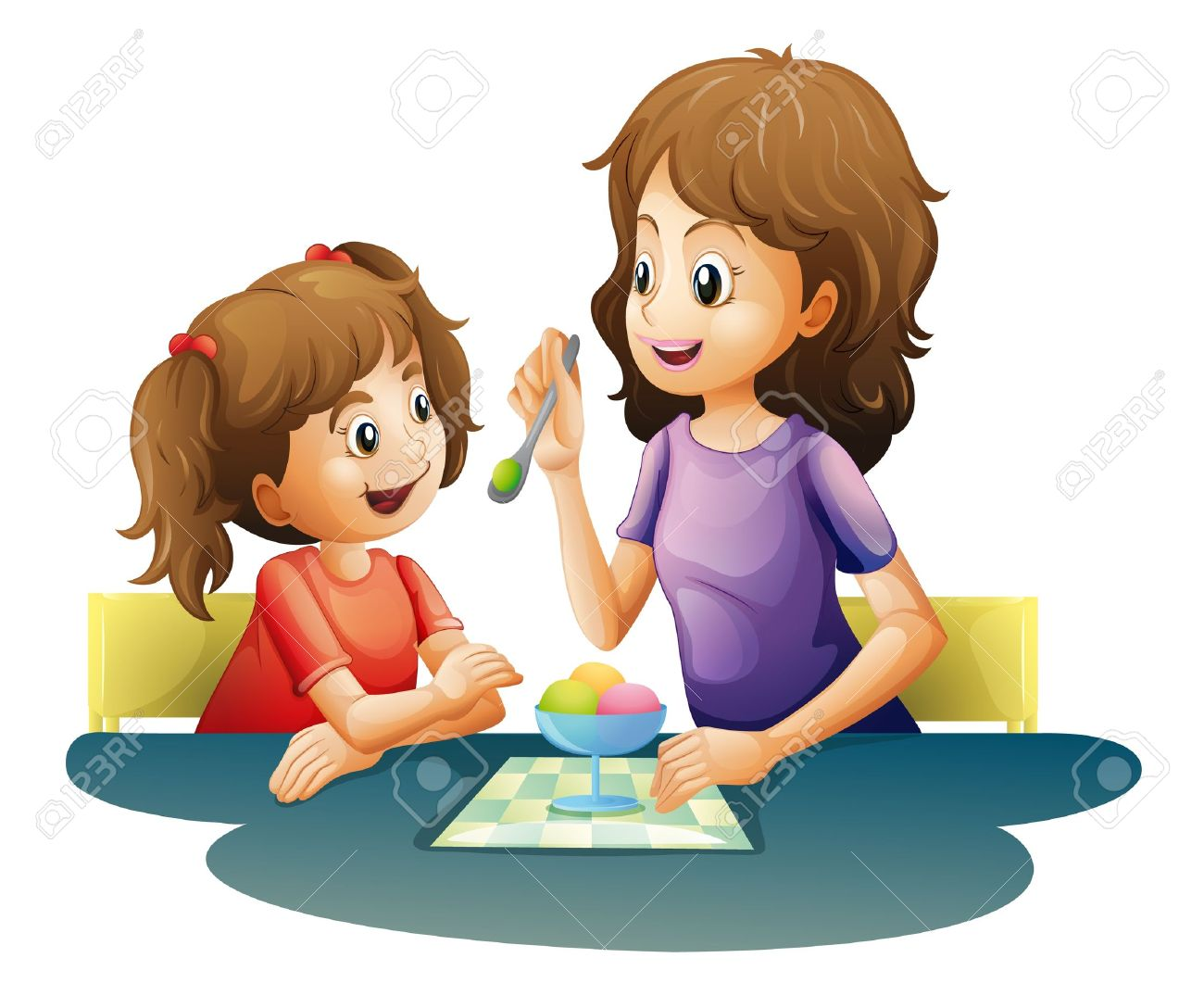 Mommy clipart child care Mother Mother Eating Eating Clipart