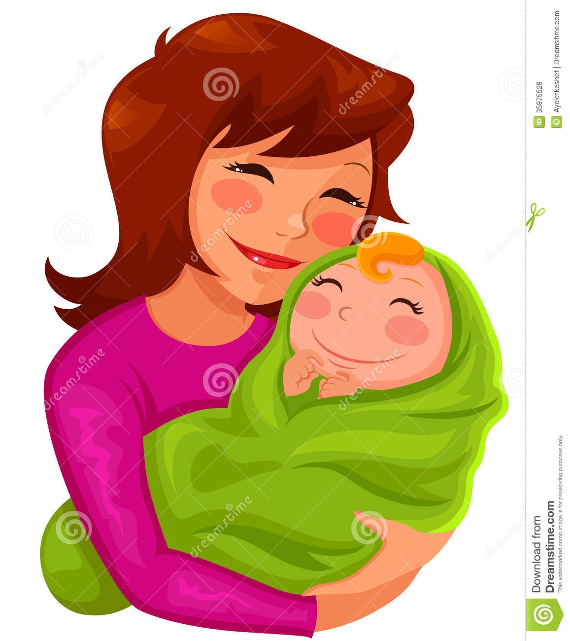 Kisses clipart mother and child Mother Infant clipartsgram And And