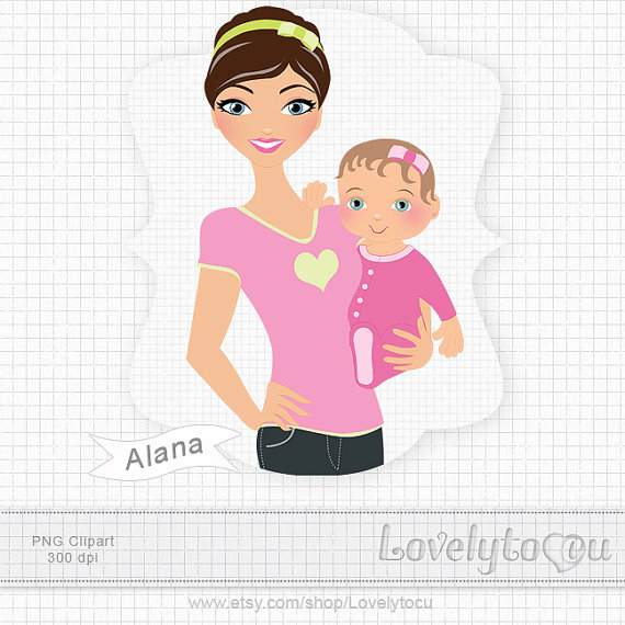 Mother And Baby clipart nanny #4
