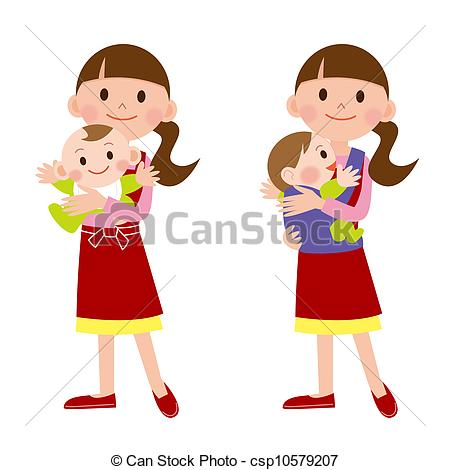 Mother And Baby clipart nanny #2