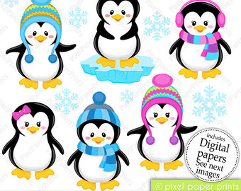 Mother And Baby clipart penguin Set clipart paper Cool and