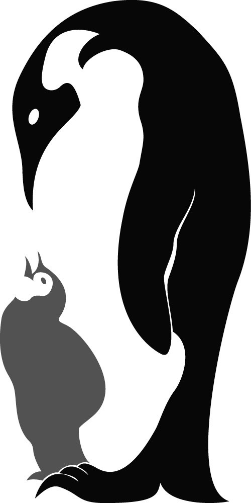 Mother And Baby clipart penguin Images Decal Stickers Art Mother