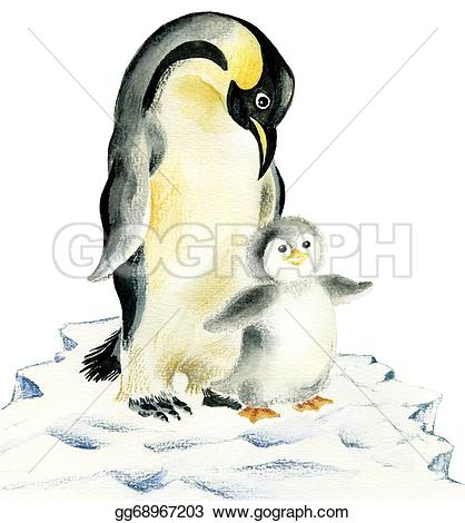 Mother And Baby clipart penguin Mother baby Illustration and Clipart