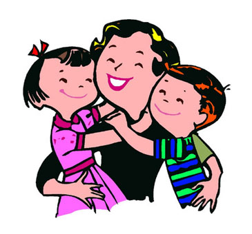 Kisses clipart mother and child Download hugging Parent  on